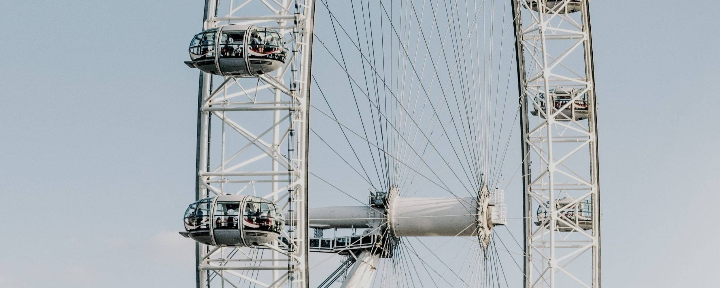 Close-up image of London Eye