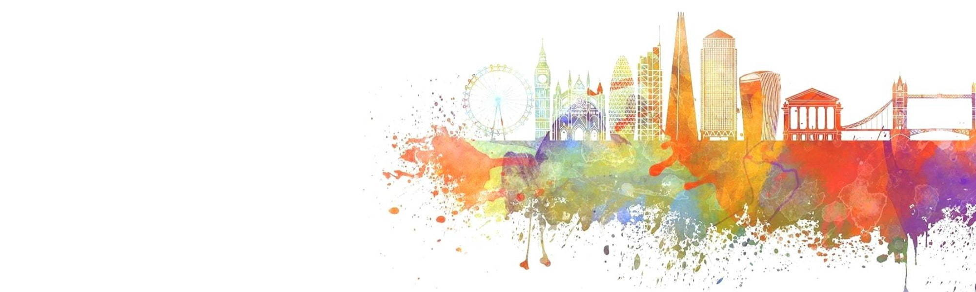 Watercolour Image of London Landmarks