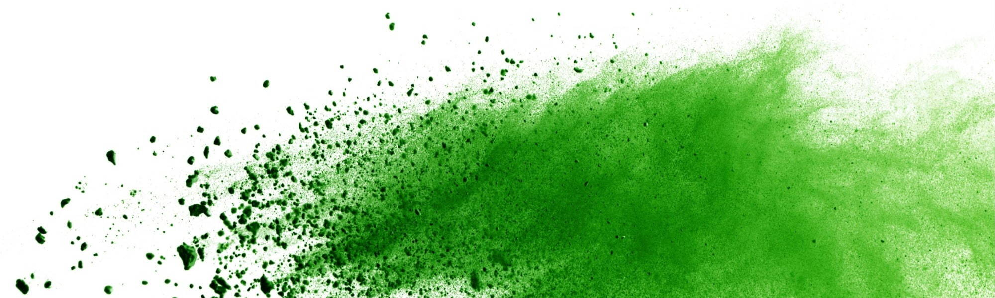 Abstract paint-splash image (Green)